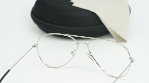 Armação Óculos Grau Feminino Aviador Metal 3025 3026 Prata - R  45 ... 0a6a0ac97c