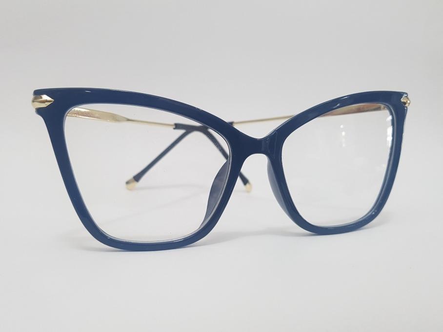 a059aa4c0 Armação Oculos Grau Feminino Azul C/ Hastes Dourada - R$ 129,00 em ...