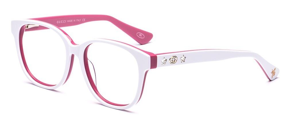 ab3f88cb31793 armação oculos grau feminino branco gg1750 acetato importado. Carregando  zoom.