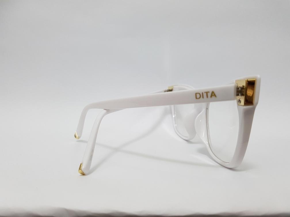 0784487ca Armação Oculos Grau Feminino Dita Branco - R$ 129,00 em Mercado Livre