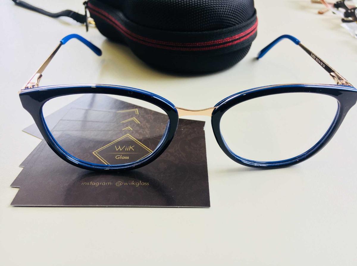 e7da760db armação óculos grau feminino fashion wiikglass 2018 azul. Carregando zoom.