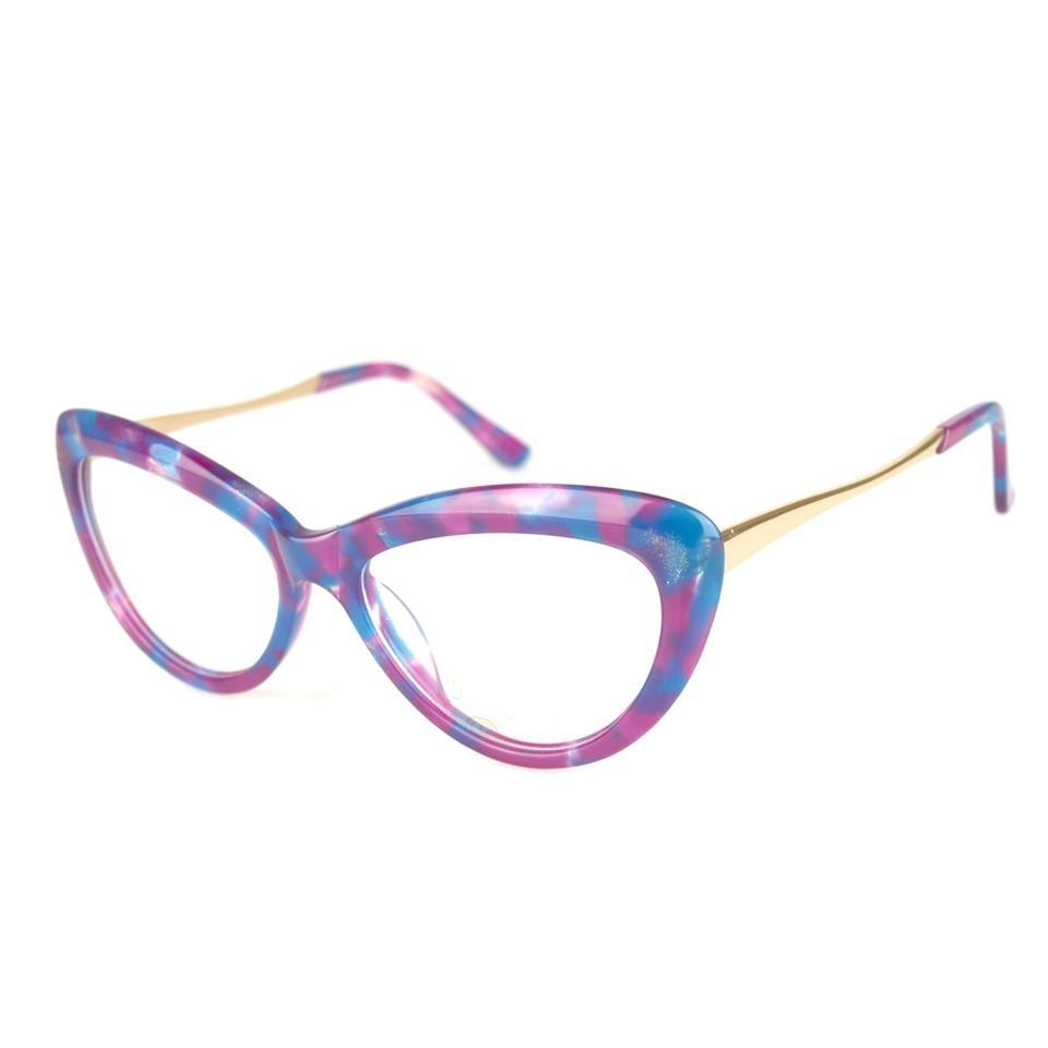 Armação Óculos Grau Feminino Gatinho 6082 Rosa Preto - R  69,50 em ... 09f76e3ef2