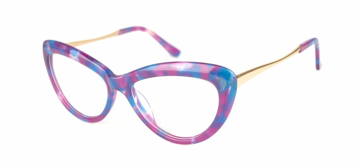 fdbc6bfe1aec5 armação óculos grau feminino gatinho colorido vintag hrs6082. Carregando  zoom.