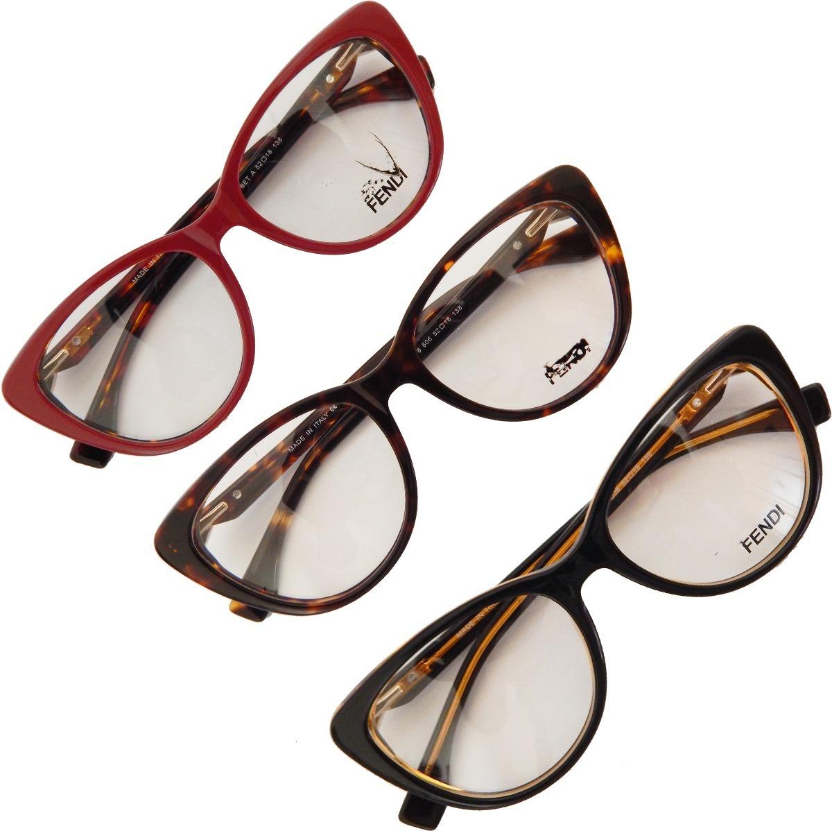 e627237b742b6 armação óculos grau feminino gatinho fendi ff0218 acetato. Carregando zoom.