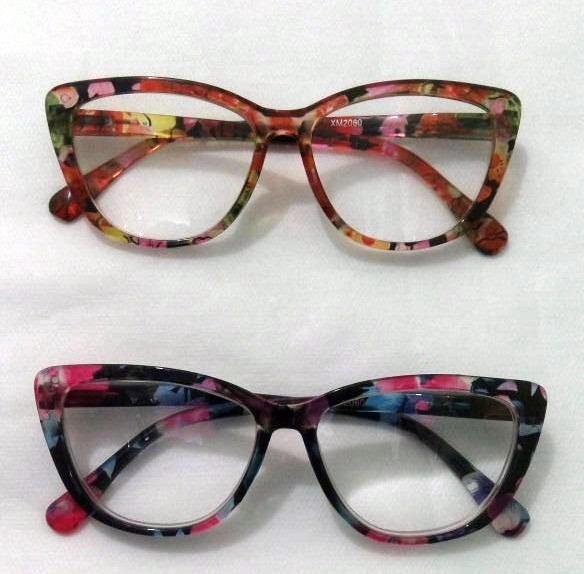 8894b7452 Armação Óculos Grau Feminino Gatinho Gatinha Retro Redondo - R$ 29 ...