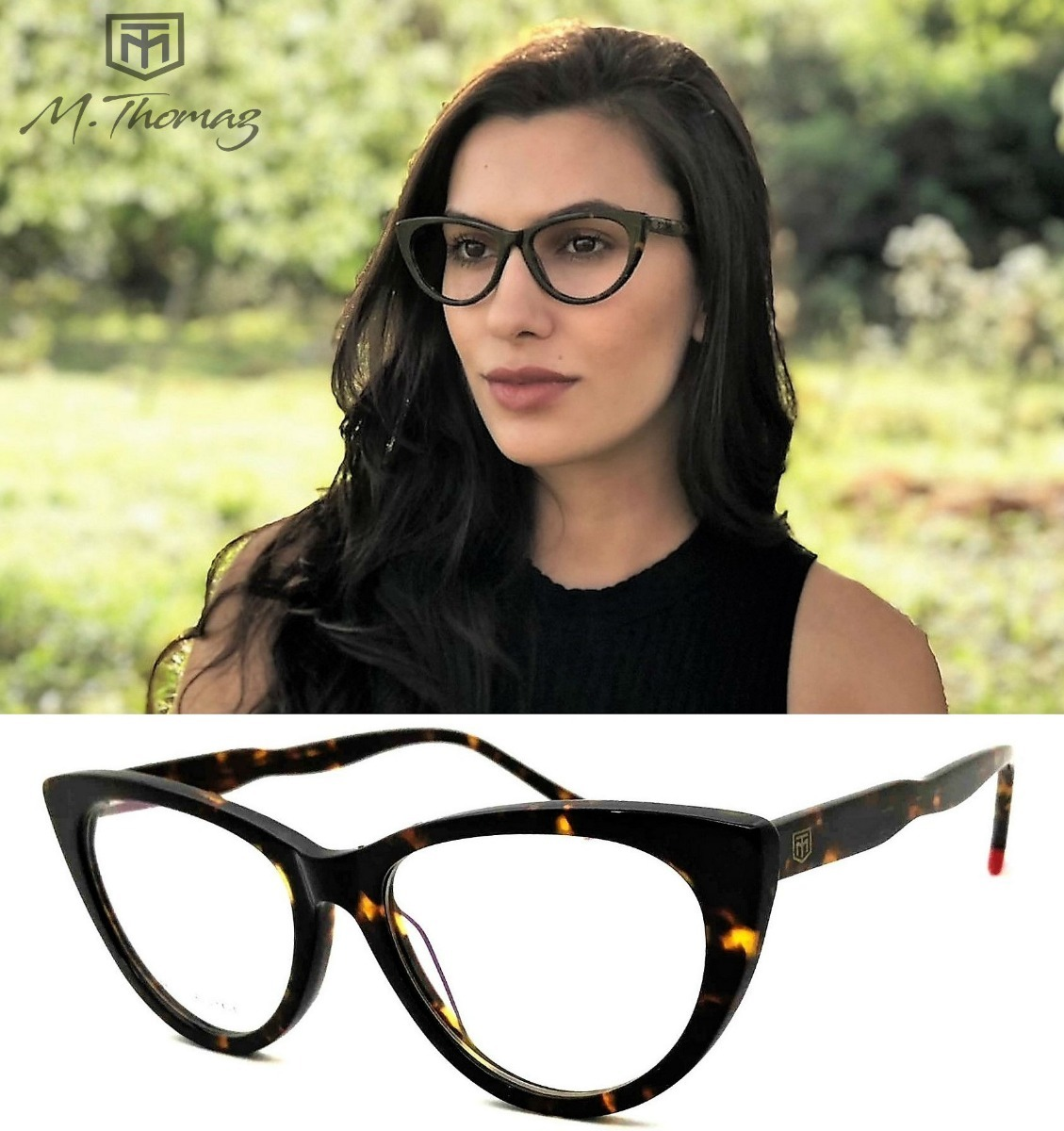 armação oculos grau feminino gatinho m.thomaz mt34 original. Carregando  zoom. 2e1654e09f