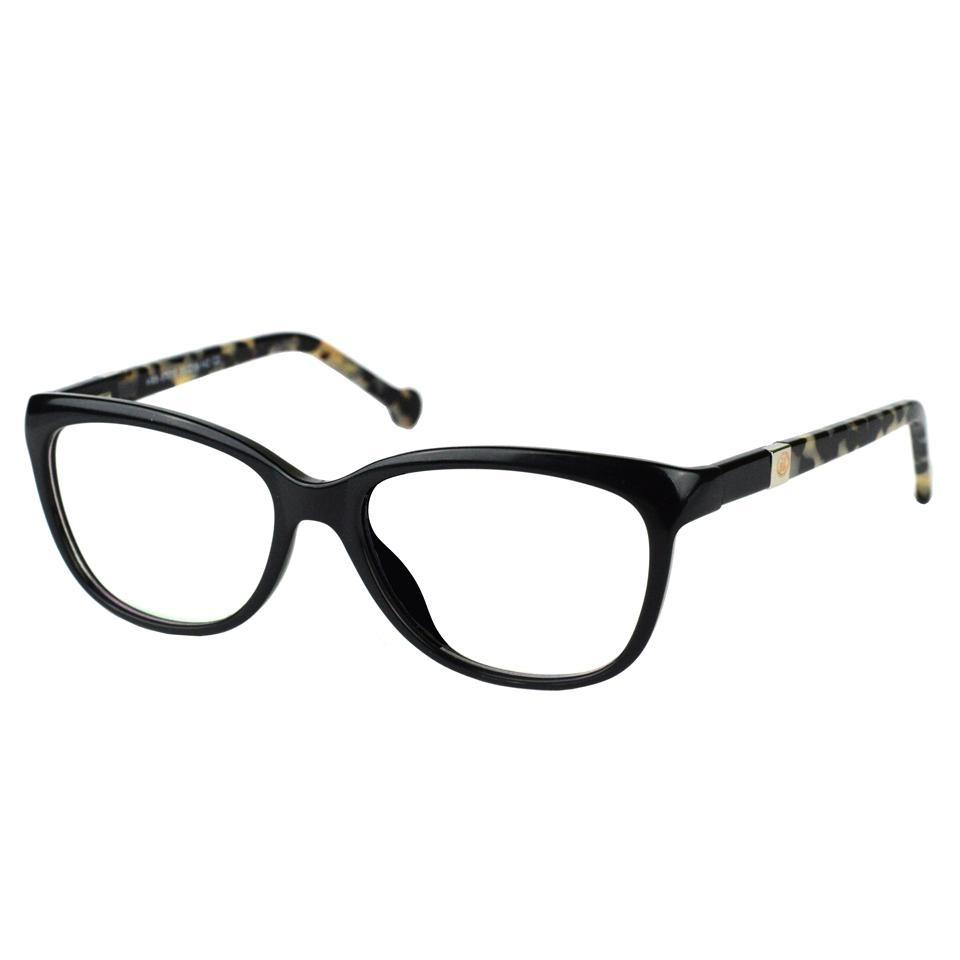 Armação Óculos Grau Feminino Gatinho Preta 17010 - R  69,50 em ... 1457000bc1