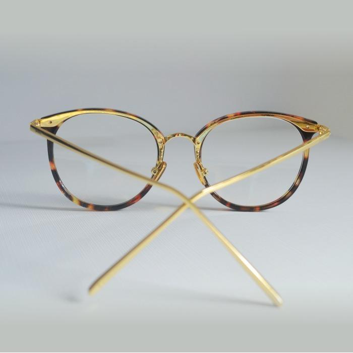 Armação Óculos Grau Feminino Geek Redondo Quadrado Marrom M - R  44 ... 21d149c9ae