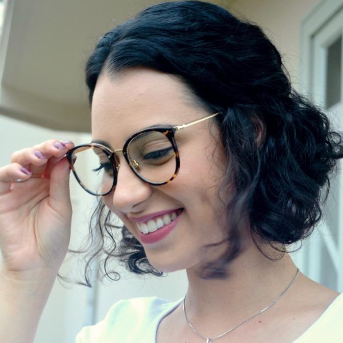 Armação Óculos Grau Feminino Geek Redondo Quadrado Rosa - R  89,00 ... 1b166e99e8