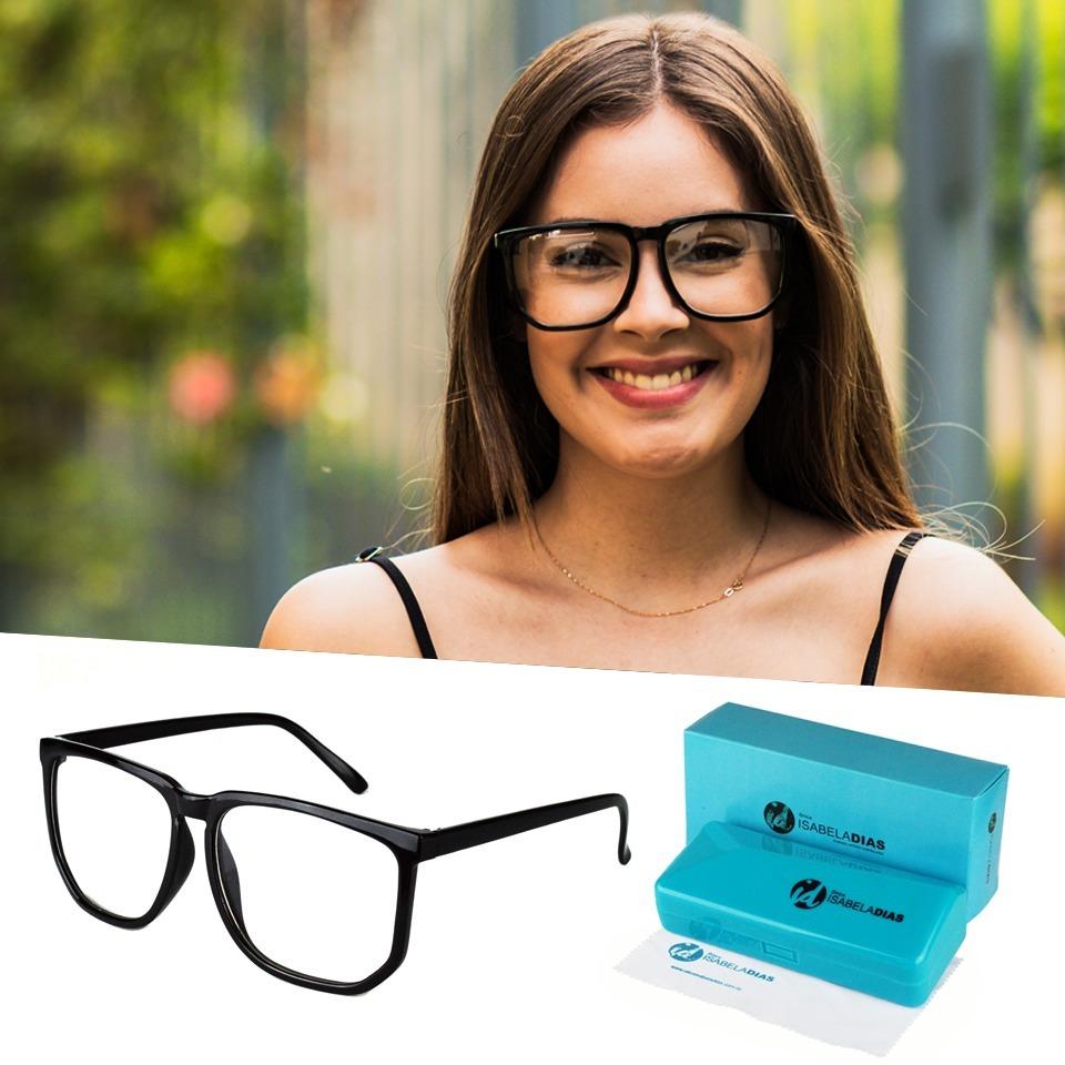 armação óculos grau feminino grande preto isabela dias 005. Carregando zoom. 3ce2aa0a1a