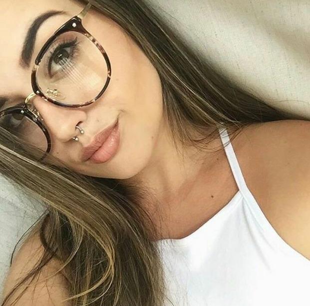 10db03ce7475f Armação Óculos Grau Feminino + Lentes Miopia + Antireflexo - R  239 ...