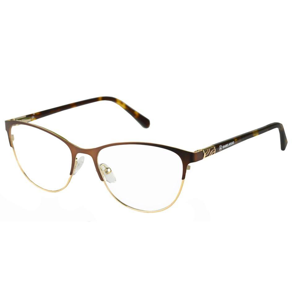 Armação Óculos Grau Feminino Marrom Gatinho Metal 5670 - R  89,50 em ... 221454e6e2