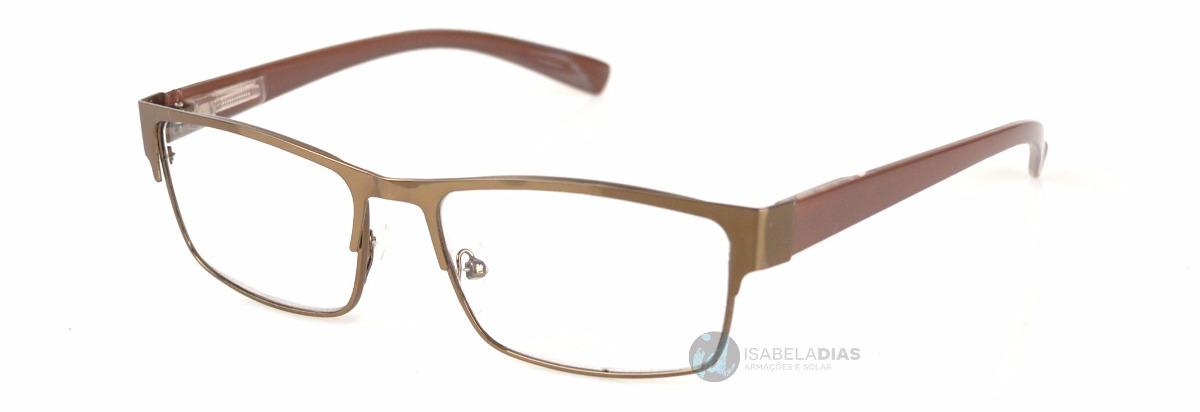a037d5476 armação oculos grau feminino masculino metal barato z1272-o. Carregando  zoom.
