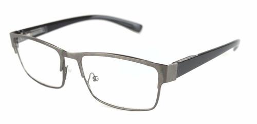 armação oculos grau feminino masculino metal quadrado id1272