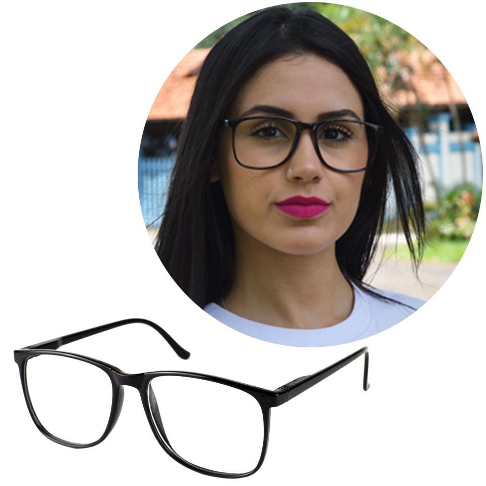 e600ac773bc67 armação óculos grau feminino masculino quadrada grande 6602. Carregando  zoom.