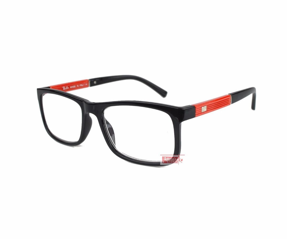 armação óculos grau feminino masculino quadrado rayban 5001. Carregando  zoom. b7c7534074
