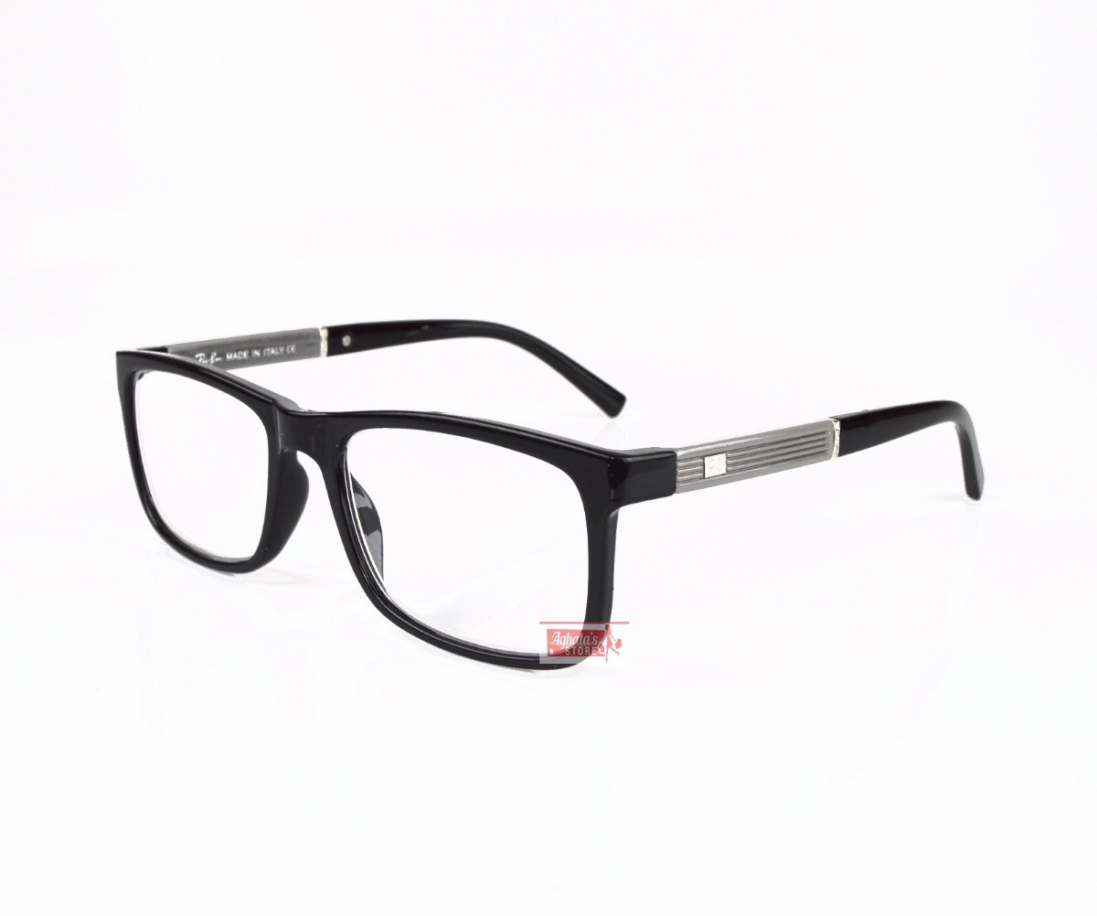 armação óculos grau feminino masculino quadrado rayban 5001. Carregando  zoom. 3773e38512