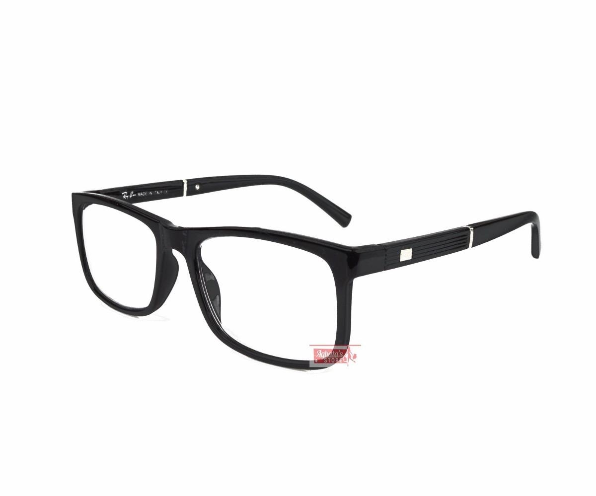 armação óculos grau feminino masculino quadrado rayban 5001. Carregando  zoom. 32ecb98437