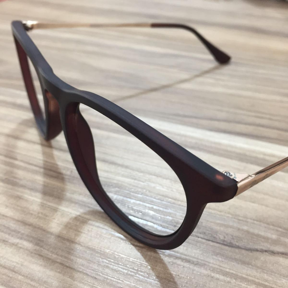 armação óculos grau feminino masculino redondo erika geek. Carregando zoom. 0bfc8529dc