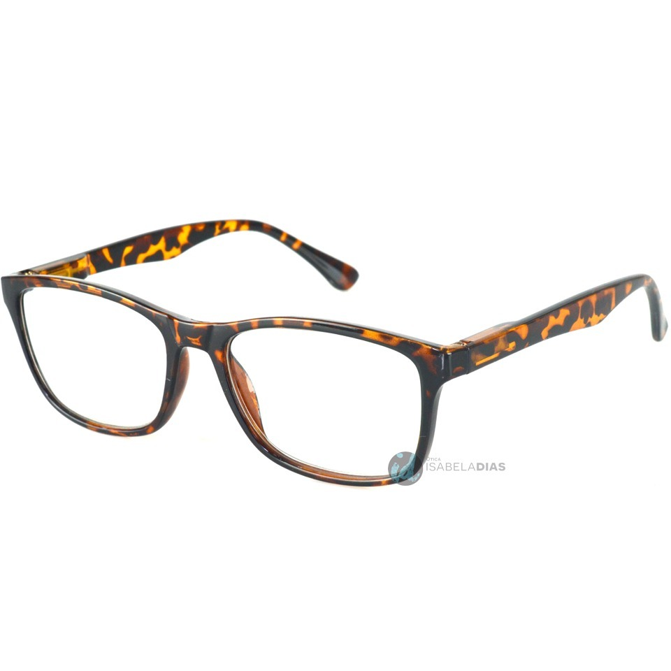 95163f956b6ab Armação Oculos Grau Feminino Masculino Unissex Quadrada 8306 - R  68 ...