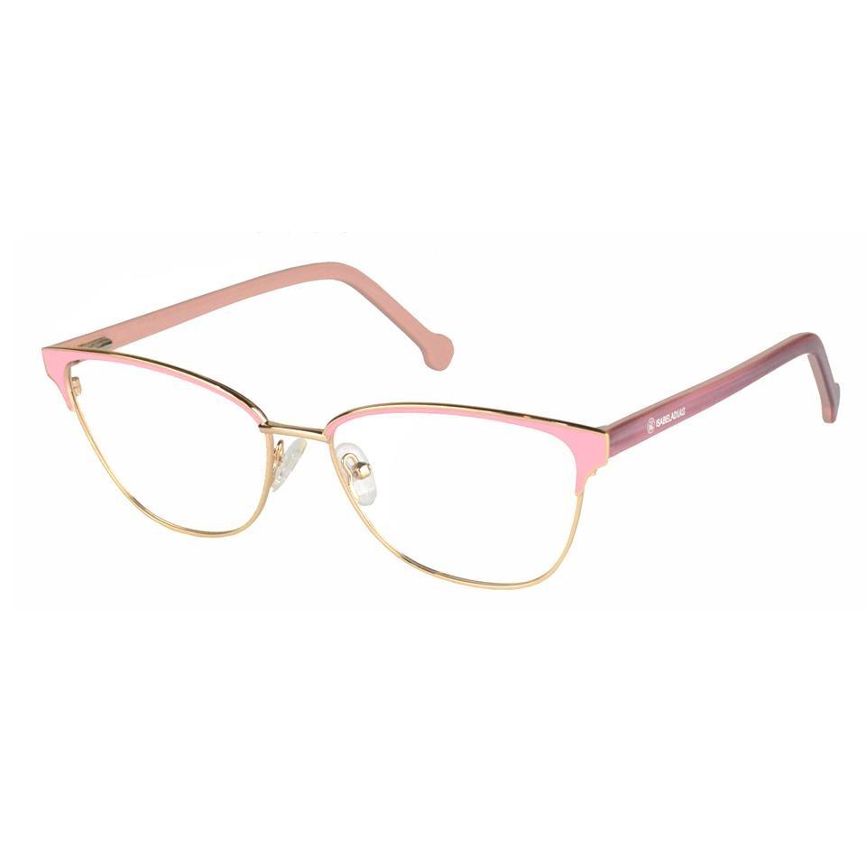 c69a0b4ec armação óculos grau feminino metal gatinho casual 77031. Carregando zoom.