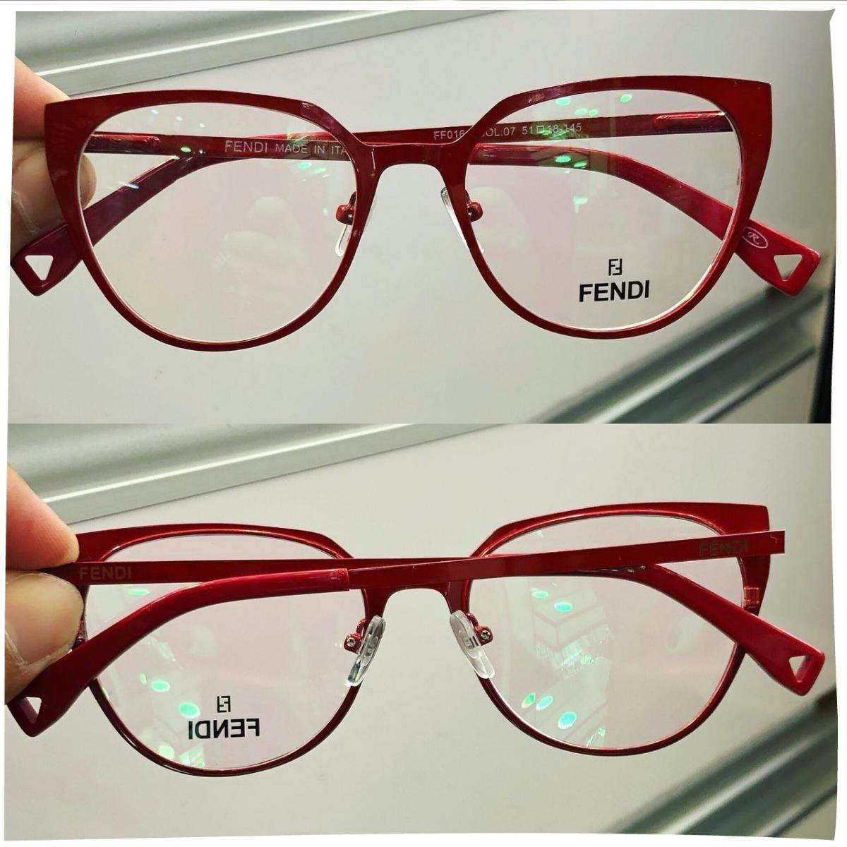 armação oculos grau feminino metal importado ff61 original. Carregando zoom. a04313a561