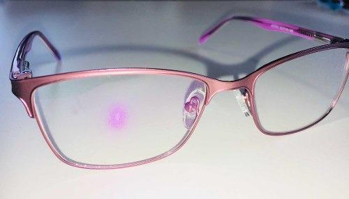85c59224d5a49 Armação Óculos Grau Feminino Metal Moda 2018 Rosa - R  89
