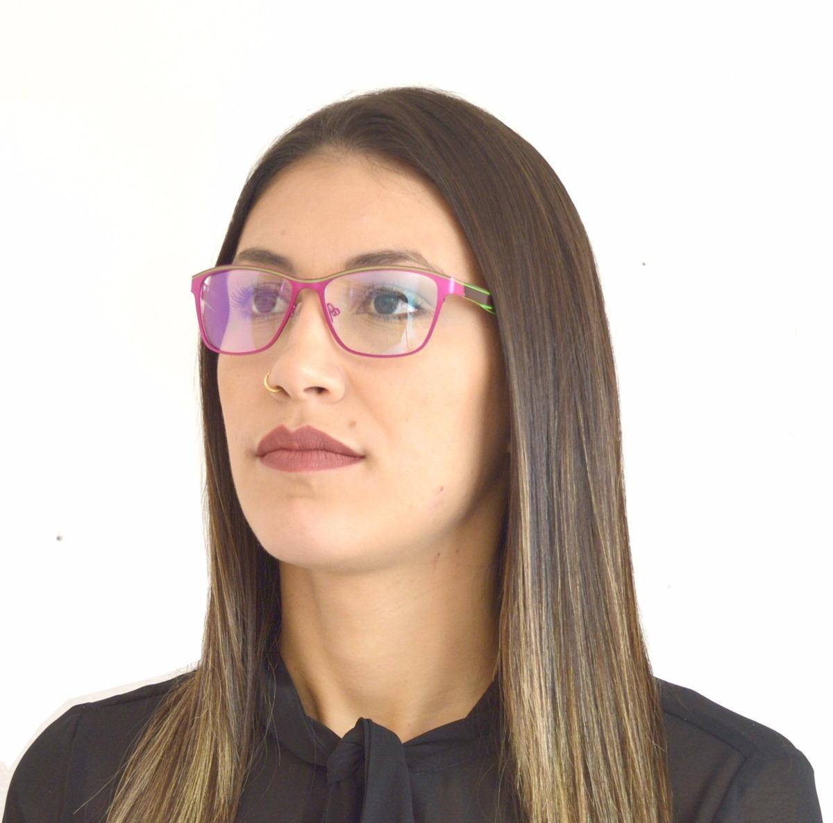 armação óculos grau feminino metal rosa roxo adulto hc6010. Carregando zoom. 6262f62bd8