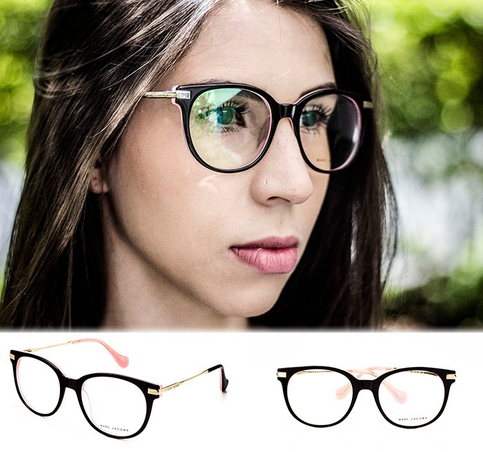 Armação Oculos Grau Feminino Mj8 Acetato Metal Original - R  90,00 em  Mercado d1b44e2226