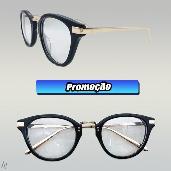 Armação Óculos Grau Feminino Nerd Redondo Médio A038 - R  45,99 em Mercado  Livre 9baa85510f