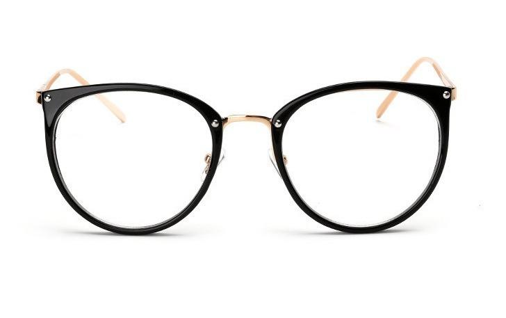 4410b16dacbec Armação Óculos Grau Feminino Olho De Gato Caixinha Estojo - R  58