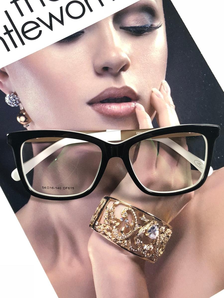a8fd9a6fe Armação Oculos Grau Feminino Original Acetato Ale Df815 - R$ 99,00 ...