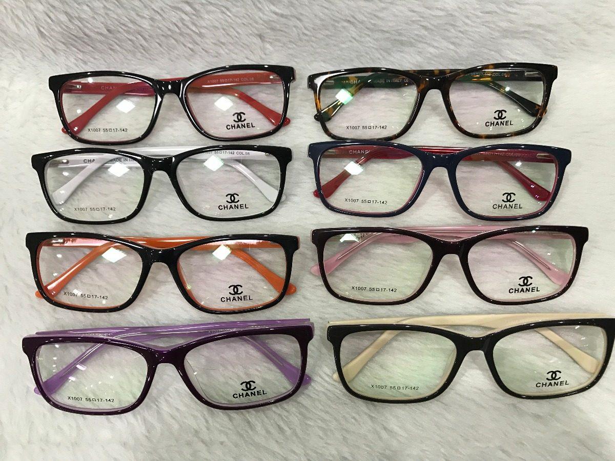 Armação Óculos Grau Feminino Quadrado Acetato 1007 - R  78,00 em ... 63de65782e