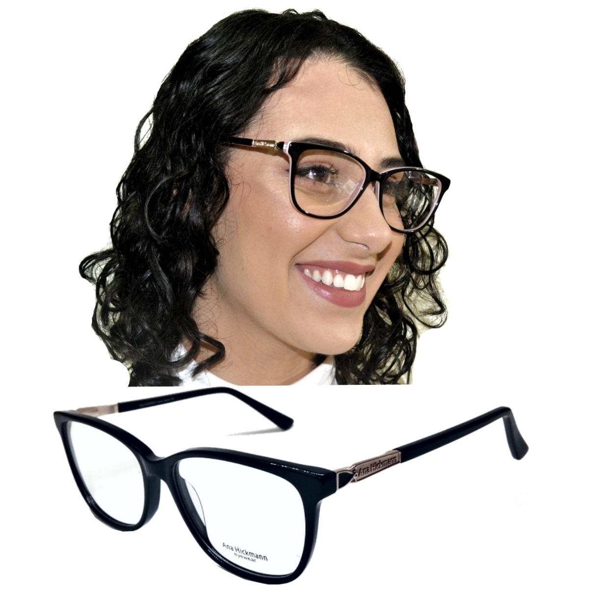 Armação Oculos Grau Feminino Quadrado Acetato Original - R  90,00 em ... 415a99879b