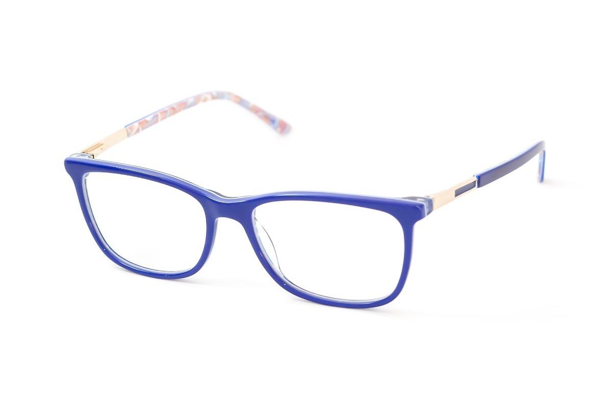 e5b78f996 armação óculos grau feminino quadrado azul escuro acetato. Carregando zoom.