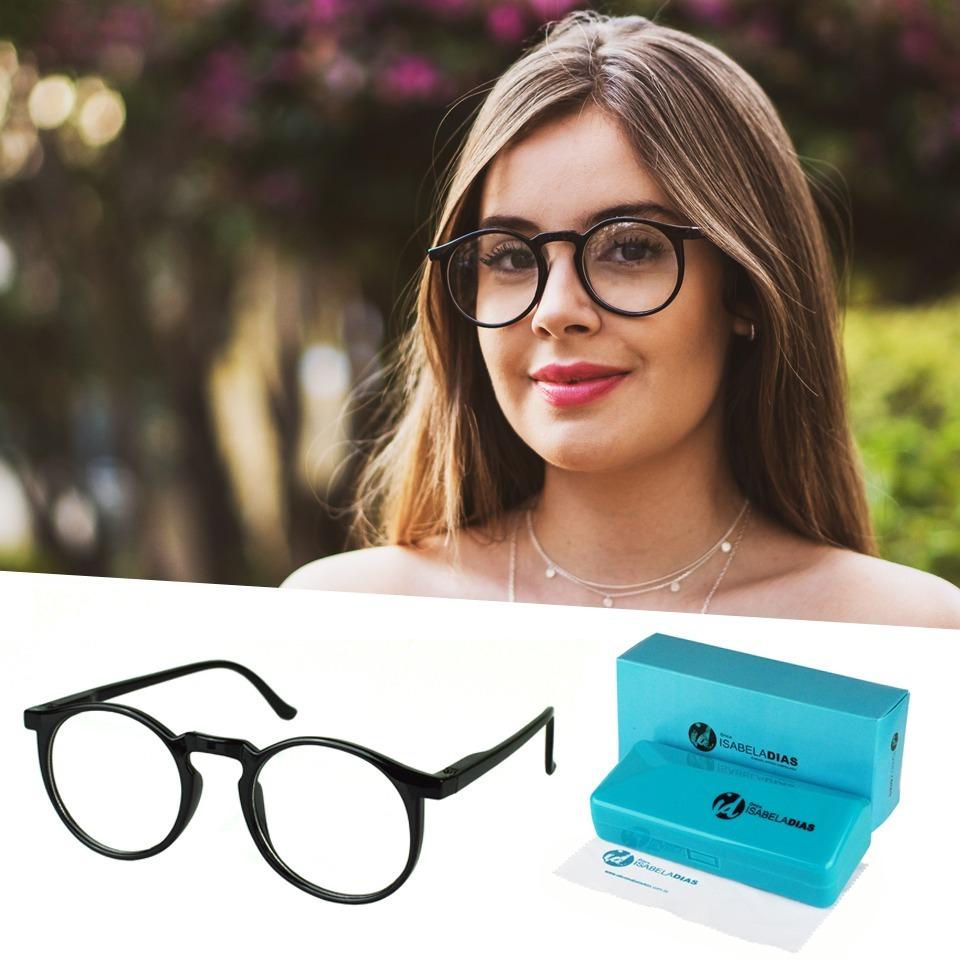 c0d178ac6 armação óculos grau feminino redondo geek isabela dias 6601. Carregando zoom .