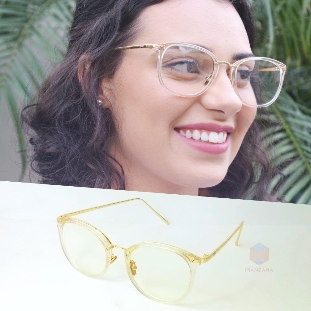 ddb357aa1 armação óculos grau feminino redondo quadrado geek transp. Carregando zoom.