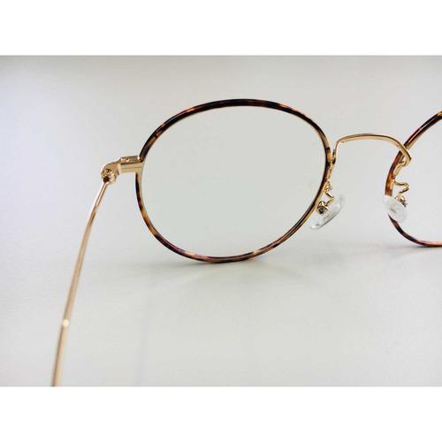 193e10267b3f7 armação óculos grau feminino redondo wiikglass top marrom. Carregando zoom.
