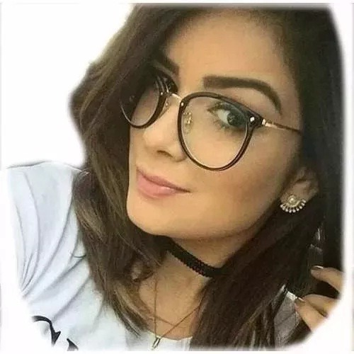 bcd07f39e Armação Óculos Grau Feminino Retrô Promoção Lançamento 2018 - R$ 38 ...