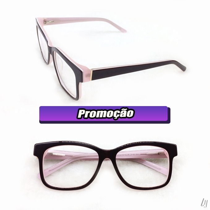 396063a51 Armação Óculos Grau Feminino Retrô Promoção Lançamento A023 - R$ 69,00 em  Mercado Livre