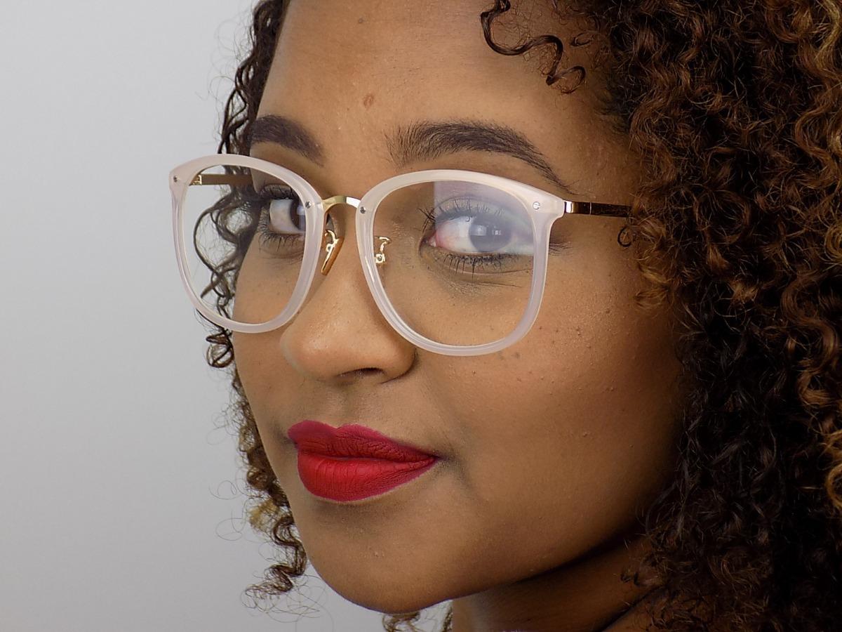 1ecc60a29 armação óculos grau feminino retrô redondo quadrado preto. Carregando zoom.
