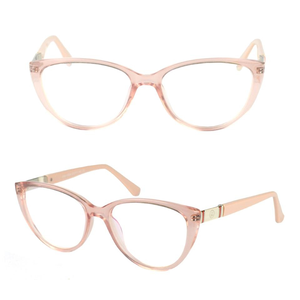 06aa8116d armação óculos grau feminino rosa transparente gatinho 17004. Carregando  zoom.