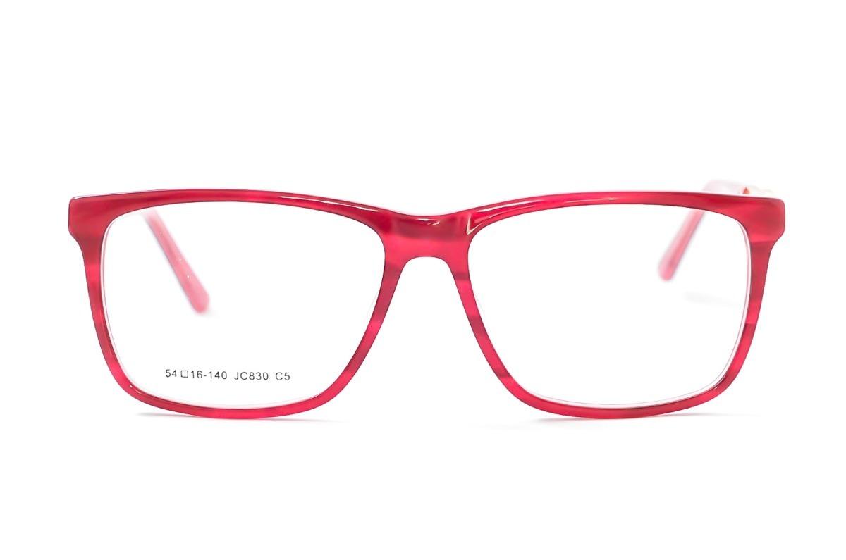 51ecce4c46aba armação óculos grau feminino vermelho acetato resistente 830. Carregando  zoom.