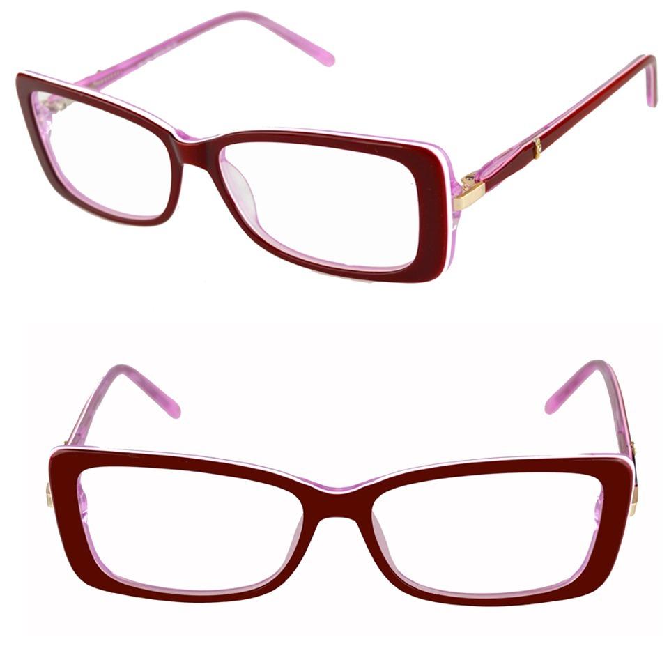 97c80167f armação óculos grau feminino vinho acetato isabela dias 1603. Carregando  zoom.