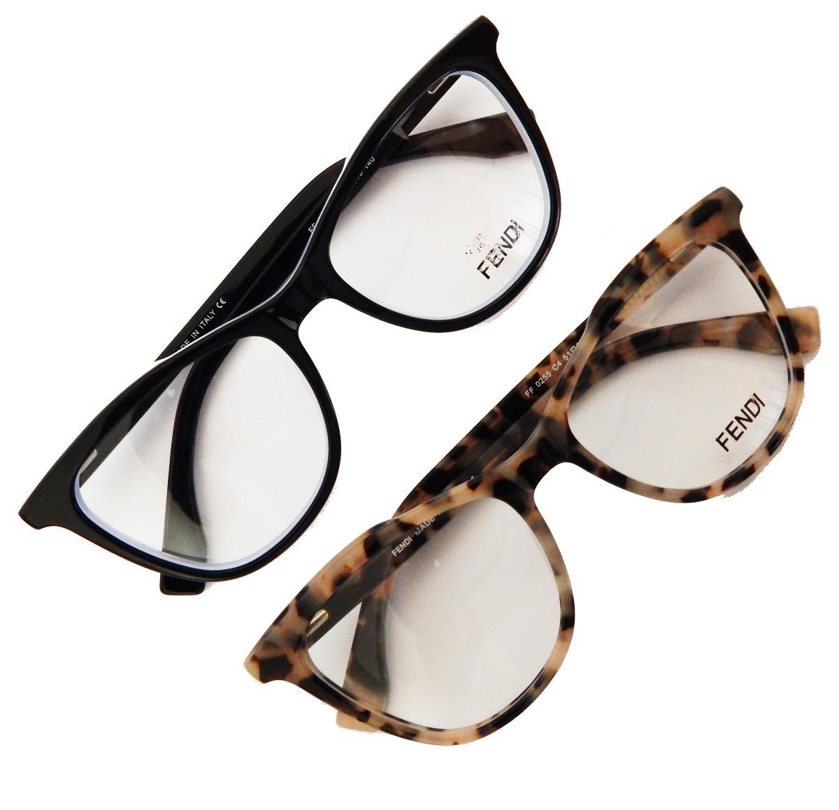 armação óculos grau fendi ff0255 feminino acetato gatinho. Carregando zoom. 9f060cb8a9