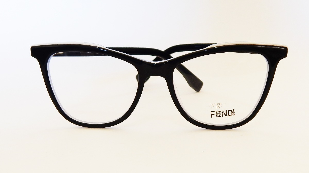 armação óculos grau fendi ff0255 feminino gatinho preto azul. Carregando  zoom. 1e9223d1a3