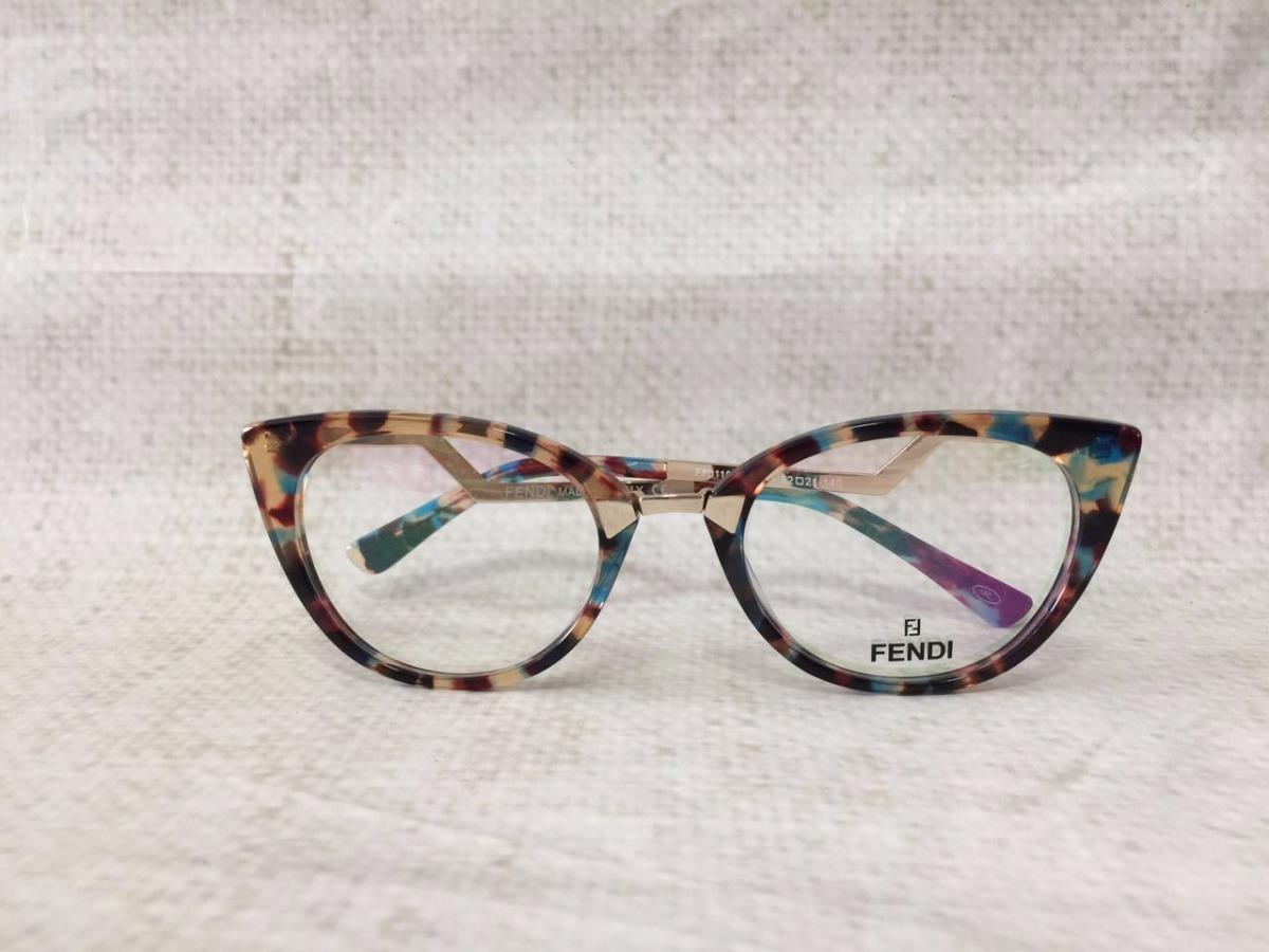 a00ec2d18 Armação Óculos Grau Fendi Gatinho + Brinde - R$ 119,90 em Mercado Livre