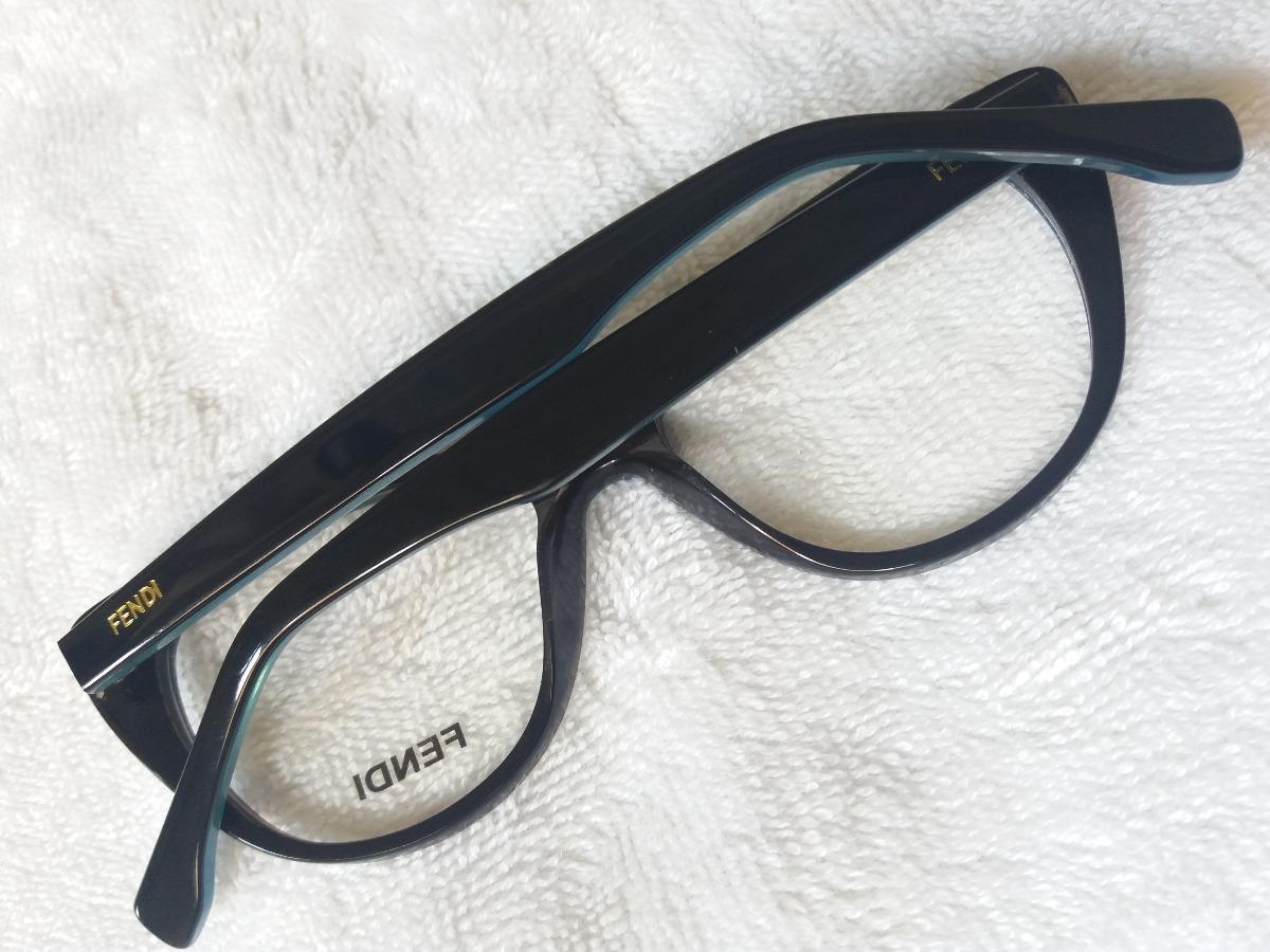 66bb02046 Armação Óculos Grau Fendi Gatinho + Brinde! - R$ 119,90 em Mercado Livre