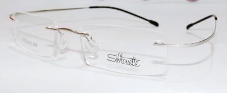Armação Oculos Grau Flex Silhouette Titanium Sem Aro Prata - R  89 ... e09dfa0d76