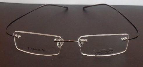 080a6c6e9 Armação Oculos Grau Flexivel Silhouette Beta Titanium Grafit - R$ 89 ...